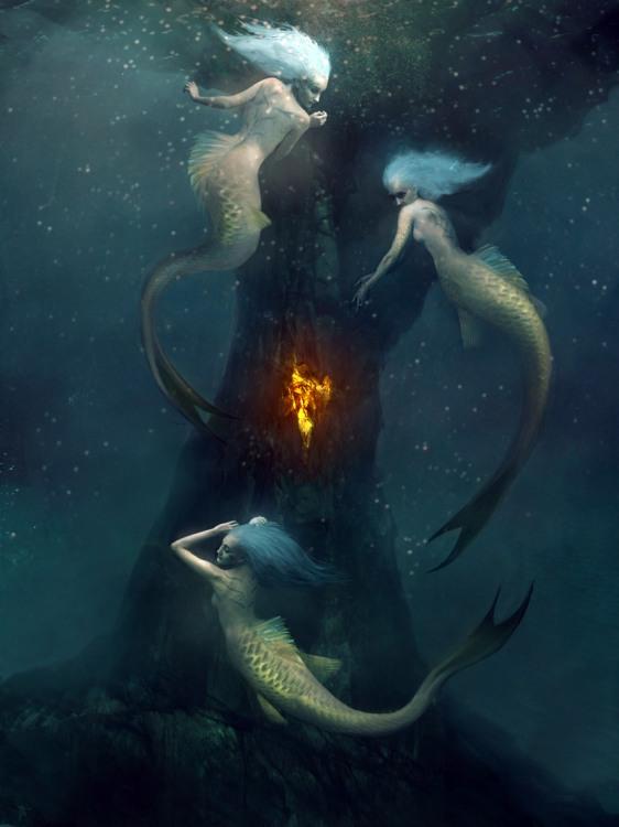 Картинка  про русалок