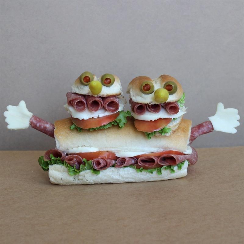 Картинки бутерброда с колбасой смешные