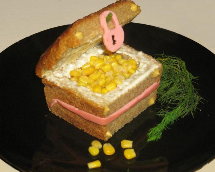 Фото прикол  про сундук и бутерброд