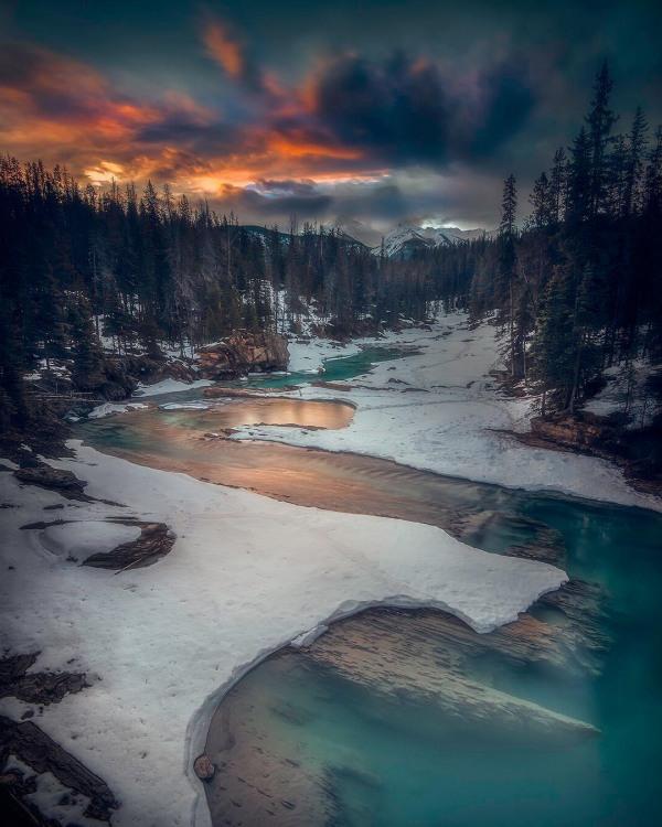 Фото прикол  про реку и зиму