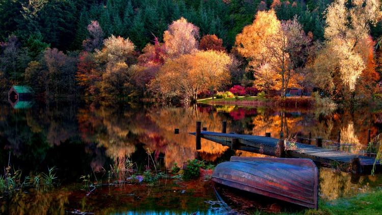 Фото прикол  про озеро и осень