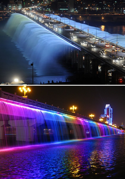 Фото прикол  про мост и фонтан