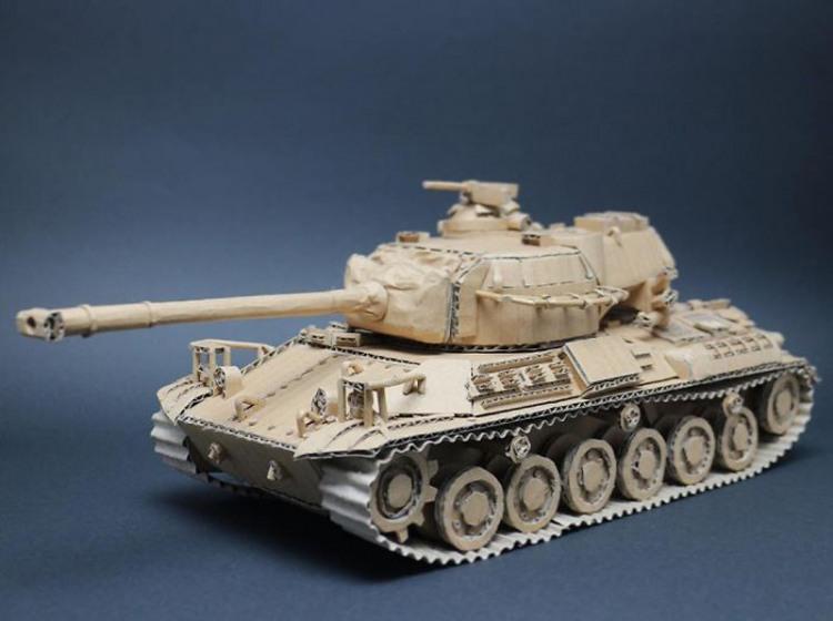 Фото прикол  про танк и картон