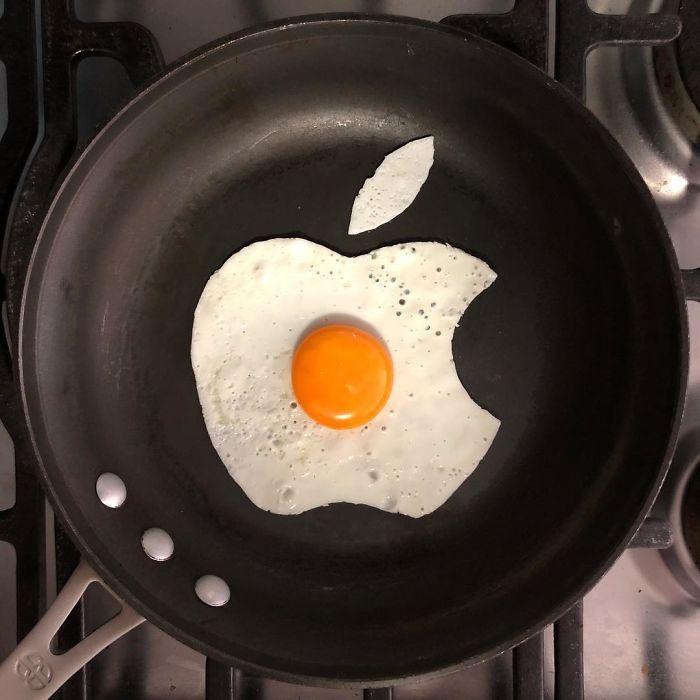 Фото прикол  про яйца, яблоки и еду