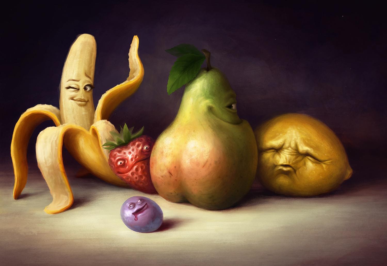 Прикольные картинки фруктов