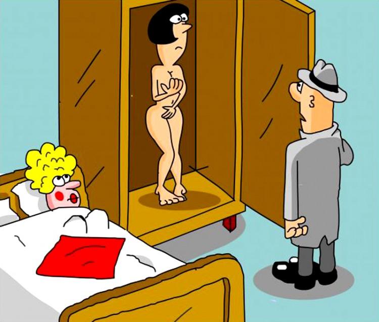 Картинка  про шкаф, любовниц, лесбиянок пошлая
