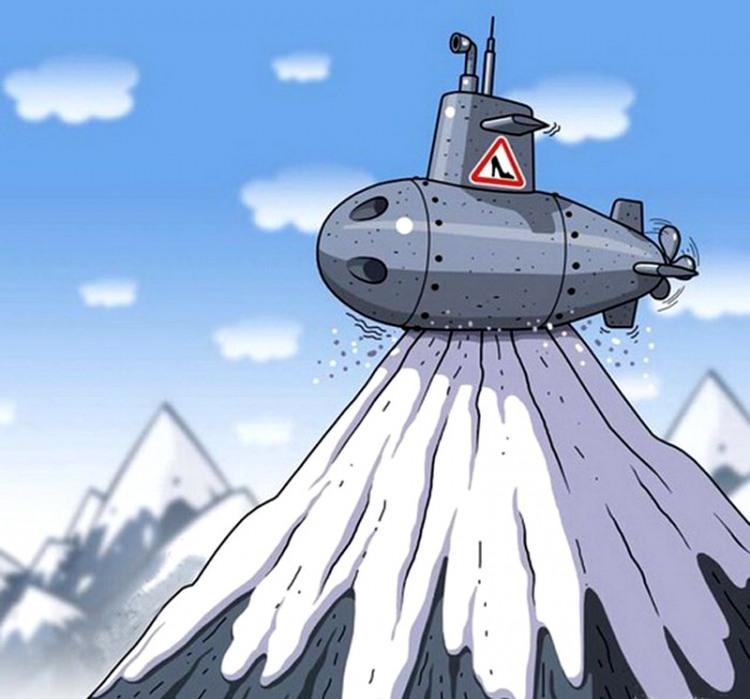 Картинка  про подводную лодку