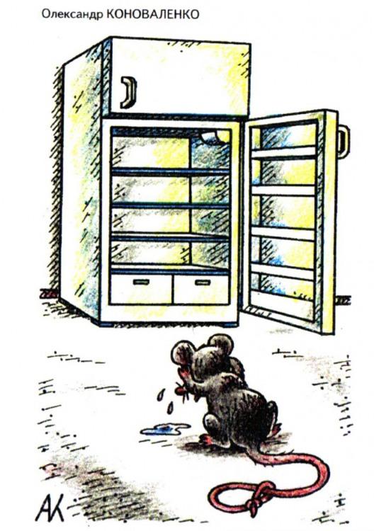 Картинка  про холодильник и мышей