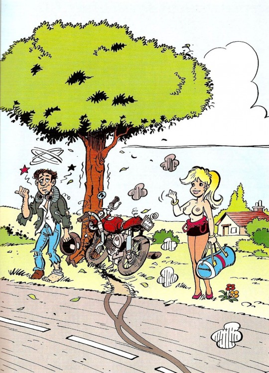 Картинка  про мотоциклистов, дтп, женскую грудь пошлая