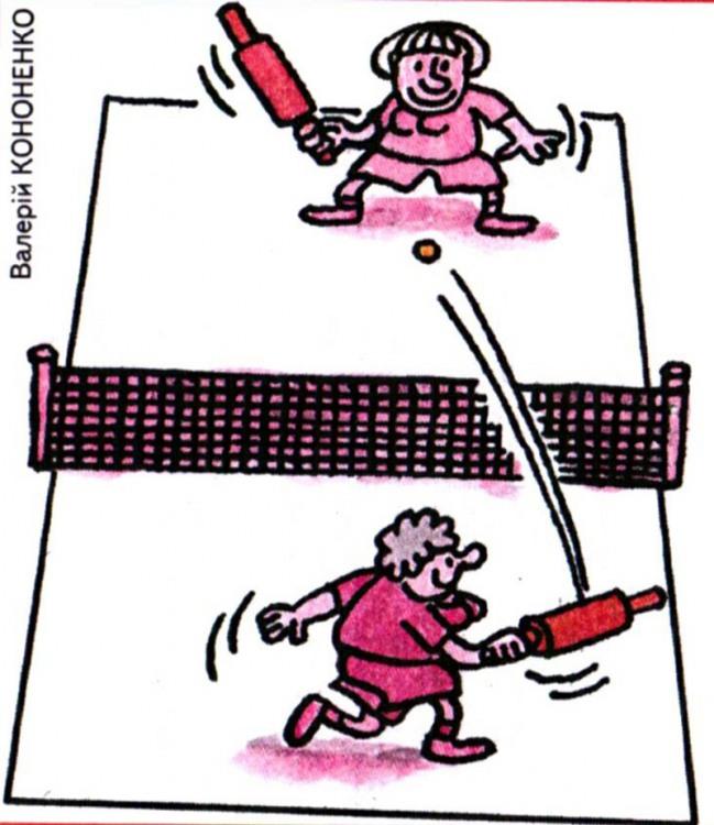 Картинка  про теннис и скалку