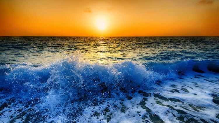 Фото прикол  про волну и закат