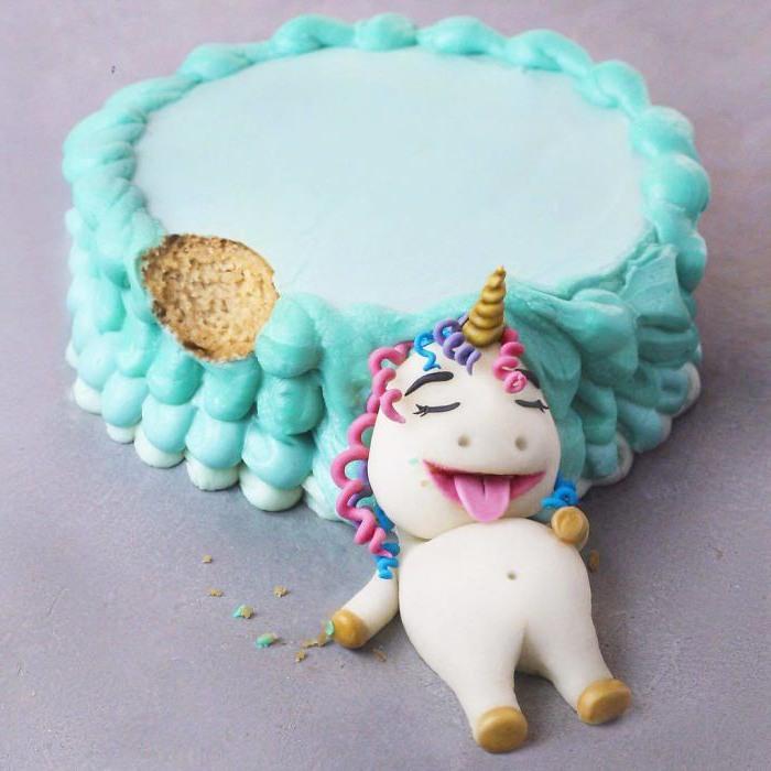 Фото прикол  про торт и единорогов