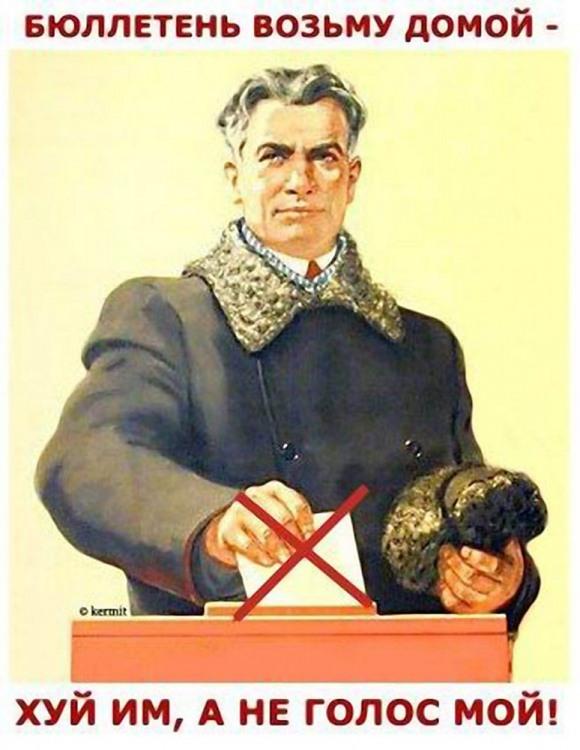 Картинка  про выборы, плакат матерная