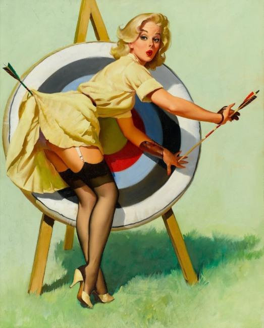Картинка  про стрелы, эротику пошлая