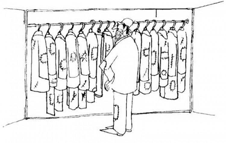 Картинка  про одежду, нищих и лохмотья