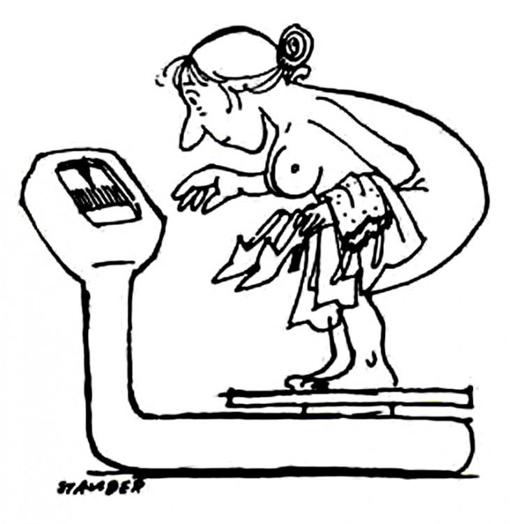 Картинка  про весы, лишний вес пошлый
