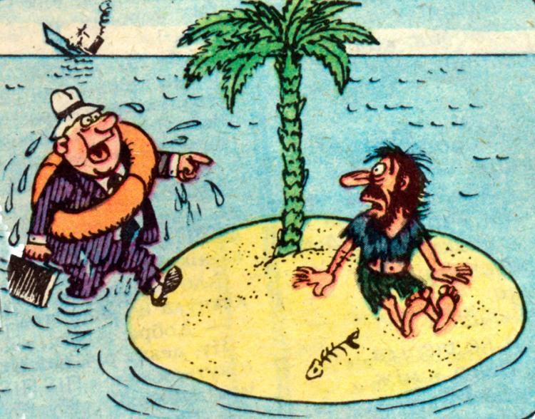Картинка  про кораблекрушение и необитаемый остров