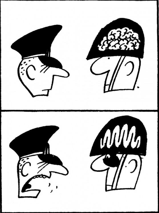 Картинка  про армию и мозг