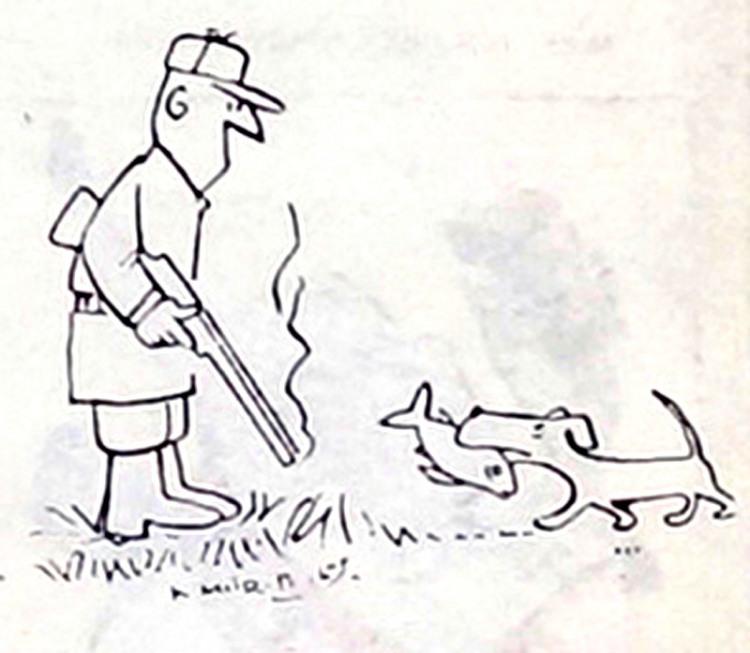 Картинка  про охоту, охотников, собак и рыбу