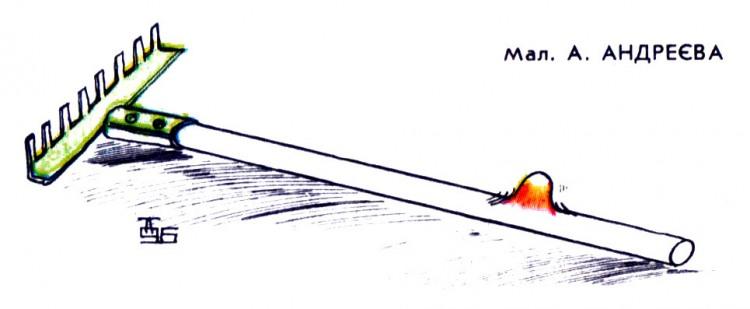 Картинка  про грабли