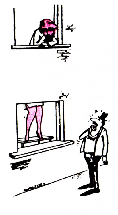 Картинка  про женские ноги и окна