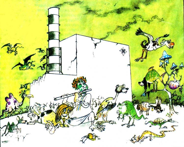 Картинка  про чернобыль, радиацию черный