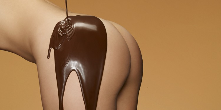 Фото прикол  про ягодицы, шоколад пошлый