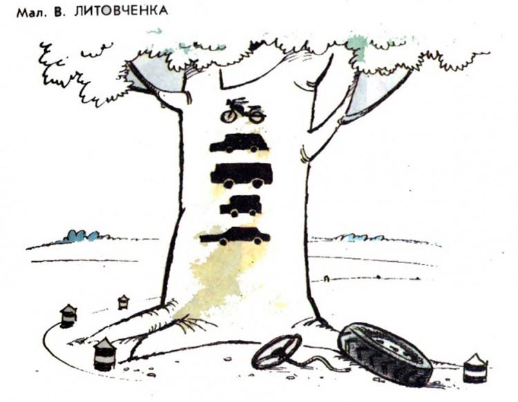 Картинка  про дерево черная