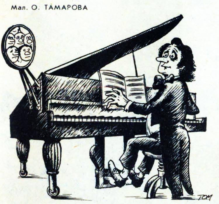 Картинка  про музыкантов и зеркало