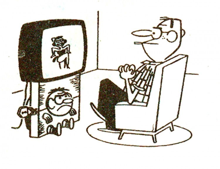 Картинка  про телевизор, детей жестокий