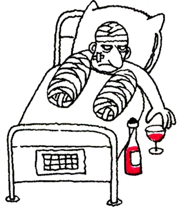 Картинка  про пациентов и алкоголь