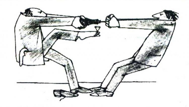 Картинка  про бутылку, пробку и штопор