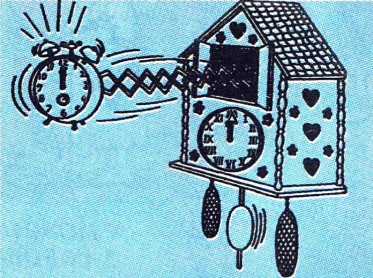 Картинка  про часы и будильник