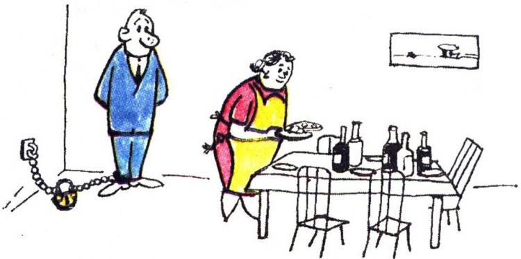 Картинка  про мужа, жену и праздники