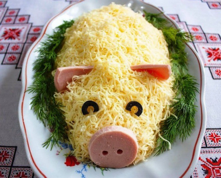 Фото прикол  про свиней и еду