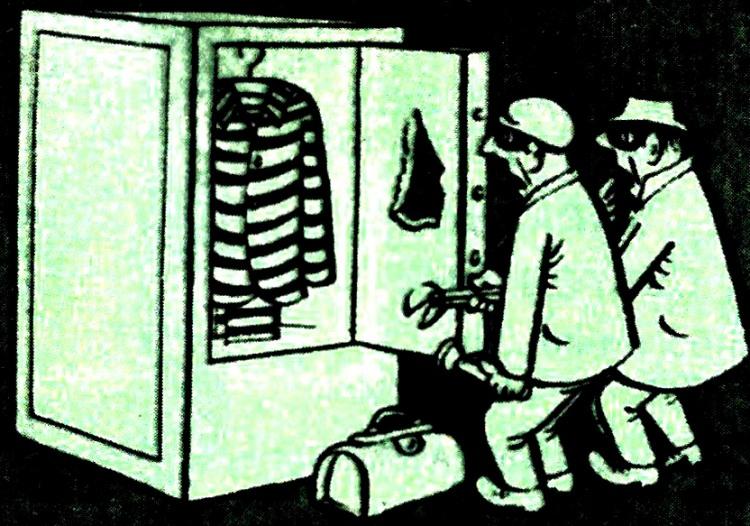 Картинка  про воров и сейф