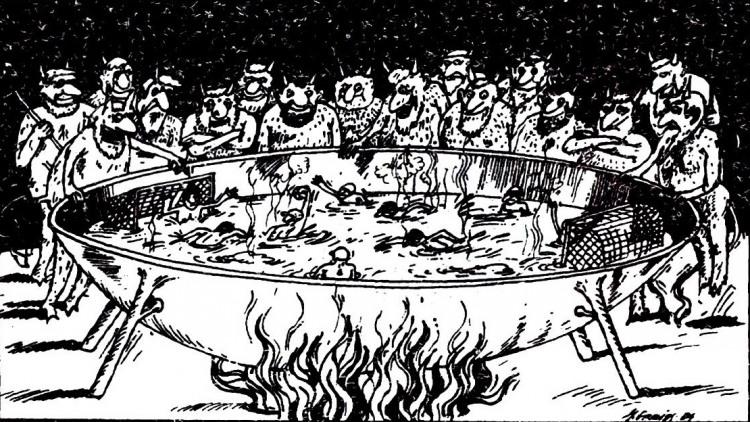 Картинка  про черта, спорт и ад