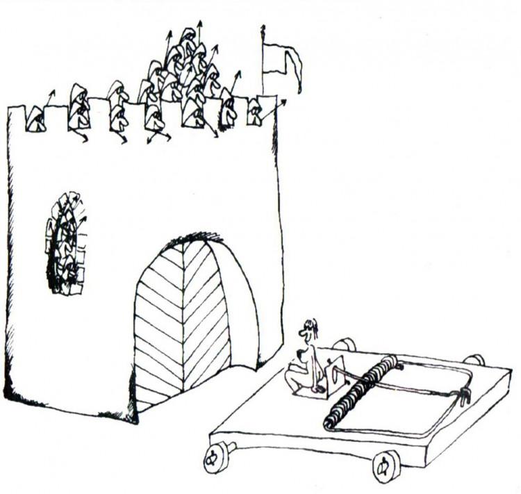Картинка  про замок, мышеловку пошлая
