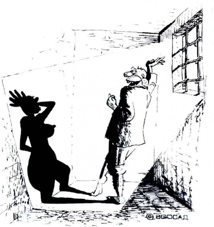 Картинка  про тень, тюрьму, воображение и арестантов