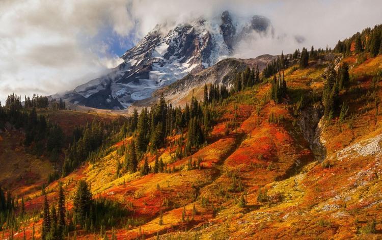 Фото прикол  про осень и горы