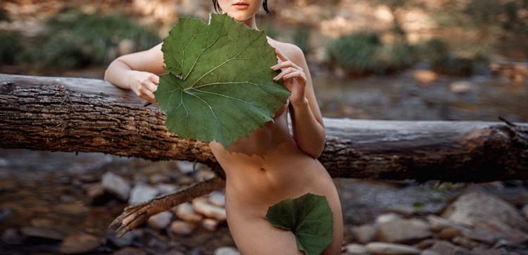 Фото прикол  про листья, девушек, эротику пошлый