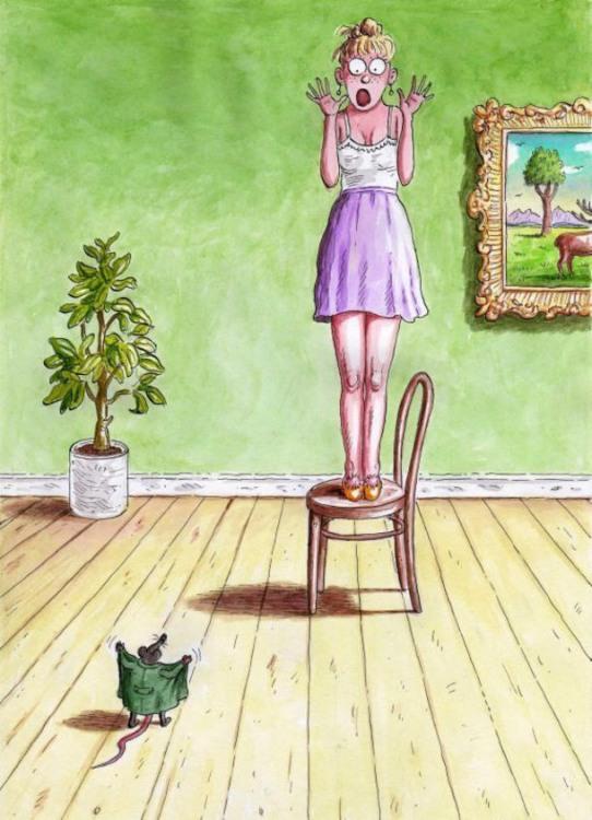 Картинка  про мышей, женщин, страх и эксгибиционизм