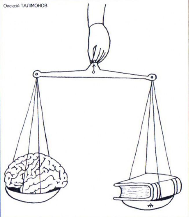 Картинка  про мозг и книги