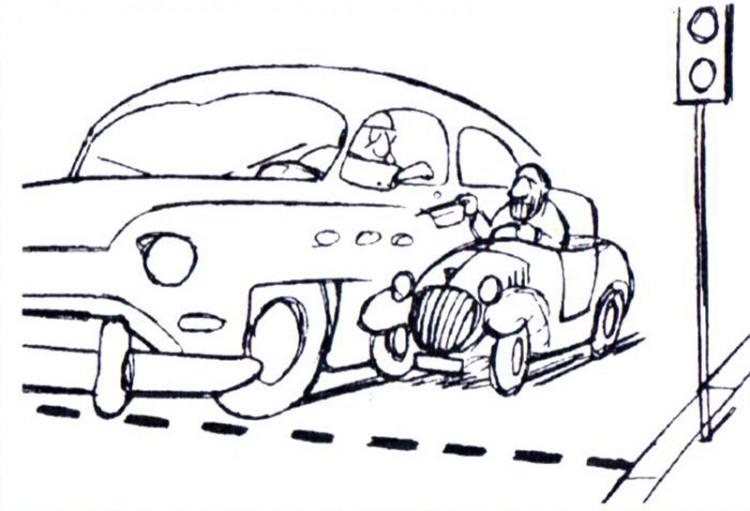 Картинка  про водителей и нищих