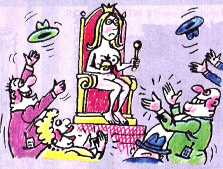 Картинка  про королеву, раздетых людей пошлая
