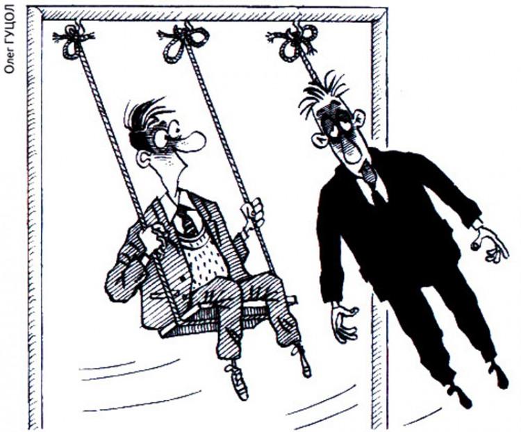 Картинка  про качели, самоубийство черная