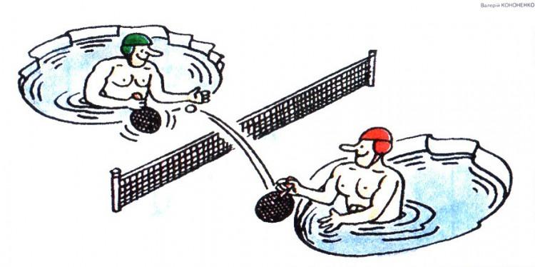 Картинка  про теннис и лед