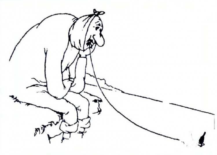 Картинка  про зубы и рыбалку