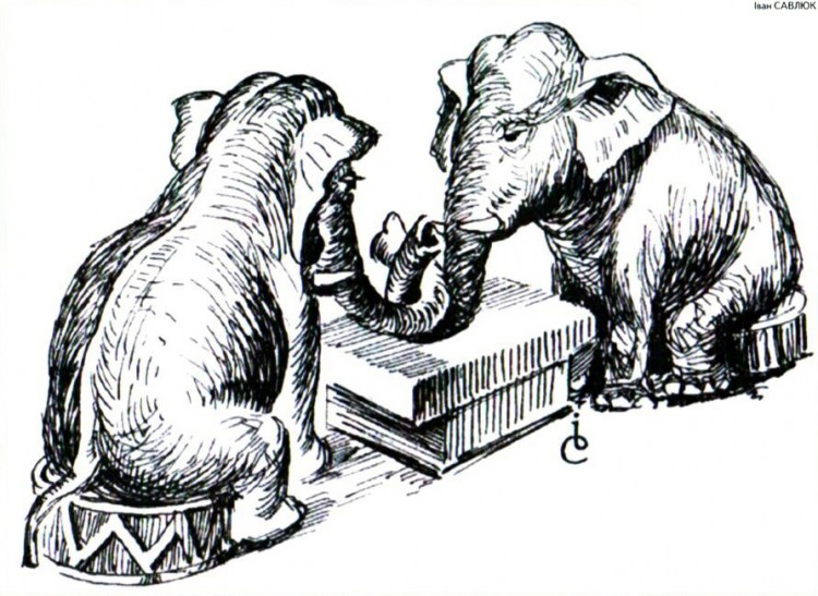 Картинка  про слонов
