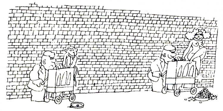 Картинка  про нищих, шарманку пошлый